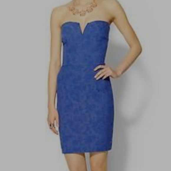 Tinley Road Size Large Strapless Blue Dress NWT